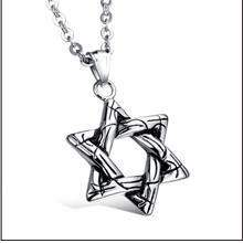 Six-pointed Star Titanium Steel Men's Necklace
