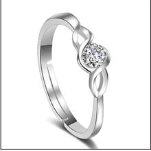 New Korean Silver Open Women's Ring