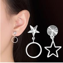 Korea Simple Asymmetric Personality Female Stud Earrings