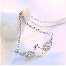 Silver Necklace Cute Angel Wings Fashion