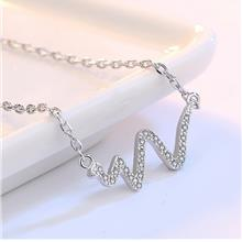 Silver Necklace Korean Version Chain Clavicle Accessories