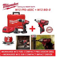 Milwaukee M12 FUEL Compact Percussion Drill Driver Combo Set