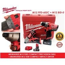 Milwaukee M12 FUEL 2-Speed Percussion Drill Driver Combo Set