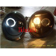 VW BEETLE '98-05 LED Projector Head Lamp +Eye Brown [Black Housing]