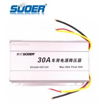 SUOER 30A DC 24V to 12V Car Power Converter Transformer SE-30A