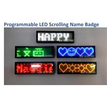 Programmable LED Scrolling Name Badge Sign Business Card Moving Messag