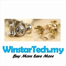 1set Brass Motherboard S11 10mm Standoffs & S21 Screws M3 PC Computer