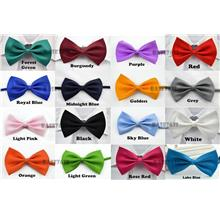 Adjustable  Men  Man Solid Bowtie Necktie Neck Tie Neckwear Bow Tie
