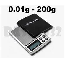 0.01g- 200g  Mini Digital Portable Pocket Jewelry Weighing Scale
