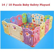 Baby Safety Playard With Safety Door and Game Wall