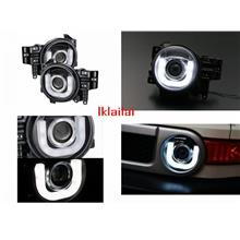 TOYOTA FJ CRUISER '07-11 U-Style LED DRL Projector HEAD LAMP [1-pair]