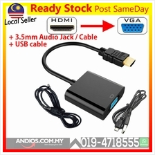 HDMI to VGA Converter Adapter USB Power Audio Cable Convertor for PS3