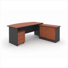EXECUTIVE TABLE WITH SIDE CABINET & MOBILE 3D