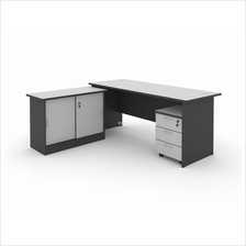 WRITING TABLE 180G WITH MOBILE PEDESTAL & SIDE CABINET