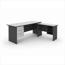 WRITING TABLE 120G WITH FIXED PEDESTAL 3D & SIDE TABLE