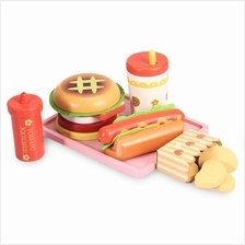 Wooden Hamburger Set Kitchen Food Toy (COLORMIX)