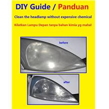 DIY Guide Clean your headlamp Kilatkan Lampu all Car+ Mitsubishi Ford