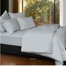 Cozzi Rainbow Grey Microfiber Plush Fitted Bedsheet Set with Comforter