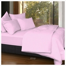 Cozzi Rainbow Pink Microfiber Plush Fitted Bedsheet Set with Comforter