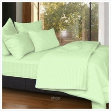 Cozzi Rainbow Green Microfiber Plush Fitted Bedsheet Set with Comforter