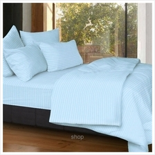 Cozzi Rainbow Blue Microfiber Plush Fitted Bedsheet Set with Comforter