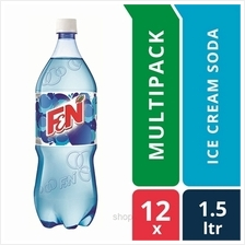 [12 packs] F &N Fun Flavours 1.5L Cool Ice Cream Soda Pet Bottles)