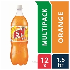 [12 packs] F &N Fun Flavours 1.5L Outrageous Orange Pet Bottles)