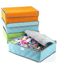 Bamboo 24 Slot Foldable Underwear Ties Scarf Socks Organizer Box