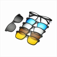4GL 2201A Magnetic Clip On 6 in 1 Polarized UV Protection Sunglasses 733fa5fb98
