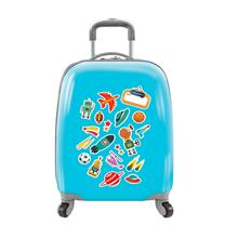 Kids Luggage Trolley Carry 18'' Suitcase with Hard Shell