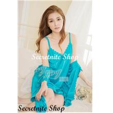 a924588ff Sun   Sexy Deluxe Satin Robe Beautiful with Chemise Lingerie R-13