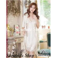 07b47ddb1 Sun   Sexy Deluxe Satin Robe Beautiful with Chemise Lingerie R-11