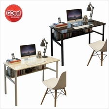 Desktop Computer Office Study Desk With Bookcase Table (CT020)