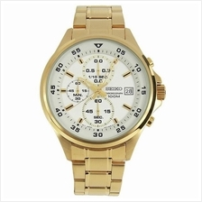 SEIKO Chronograph Quartz Gold Tone SKS632P1 SKS632 Mens Watch