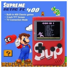 G4 SUP Retro FC Game Boy Console Built-In 400 Games 3.0 Inch Mario