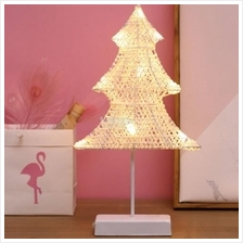 Christmas Tree Shape Rattan Romantic LED Holiday Light with Holder