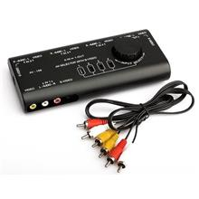 AV Audio-Video Signal Switcher (4 In 1 Out)