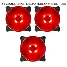 Cooler Master Masterfan MF120L Red LED 12CM Casing Fan (3 Units)