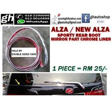 ALZA / NEW ALZA sporty rear mirror part chrome liner