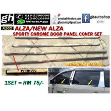 ALZA / NEW ALZA sporty chrome window trims set (4pcs)