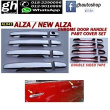 ALZA / NEW ALZA sporty chrome door handle cover set