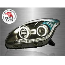 PERODUA MYVI 2005-10 EAGLE EYES CCFL Ring Starline Projector Head Lamp