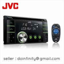 JVC KW-XR416 Car Audio Radio Double Din Front AUX USB MP3 CD Receiver