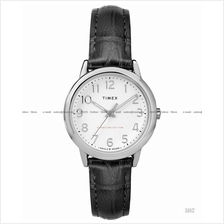 TIMEX TW2R65300 (W) Easy Reader Signature Date leather white black SE