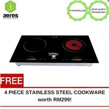 Aeres EZCook Double Ceramic & Induction Cooker (Free RM299 Gift)