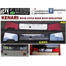KENARI MOVE style rear boot reflector (Red/Albino)