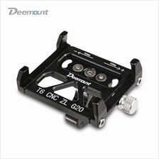 Deemount Aluminum Alloy Motorcycle / Bicycle Phone Mount Holder (BLACK