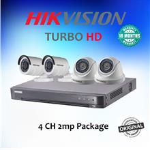 4CH HikVision Turbo HD 2MP CCTV Camera Package (18 Months Warranty)