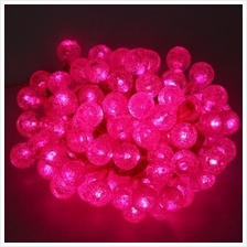 10M 100 LEDS PEBBLE BALL STRING LIGHT FOR CHRISTMAS PARTY (PINK)