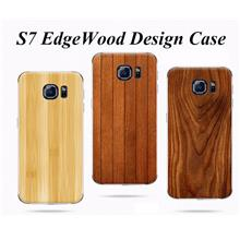 S7 Edge Wood Design PC Back Case